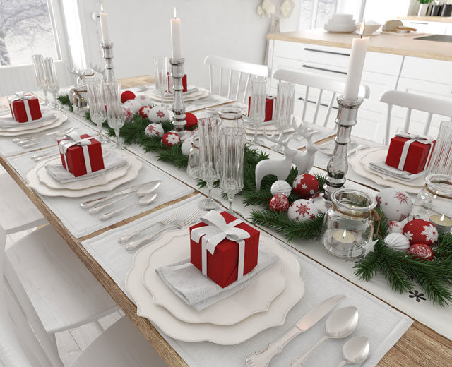 holiday kitchen countertop decoration