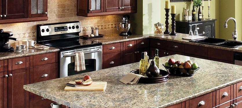 Wilsonart's laminate countertops available at Swartz Kitchens and Baths