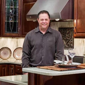 Rick Light of the kitchen and bath design team of Swartz Kitchens & Baths