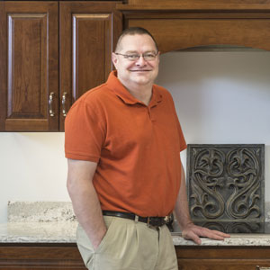 Tom Smith of the kitchen and bath design team of Swartz Kitchens & Baths