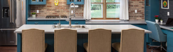 Trend Watch: Add a Pop of Color to Your Kitchen or Bath with Green or Blue Cabinets