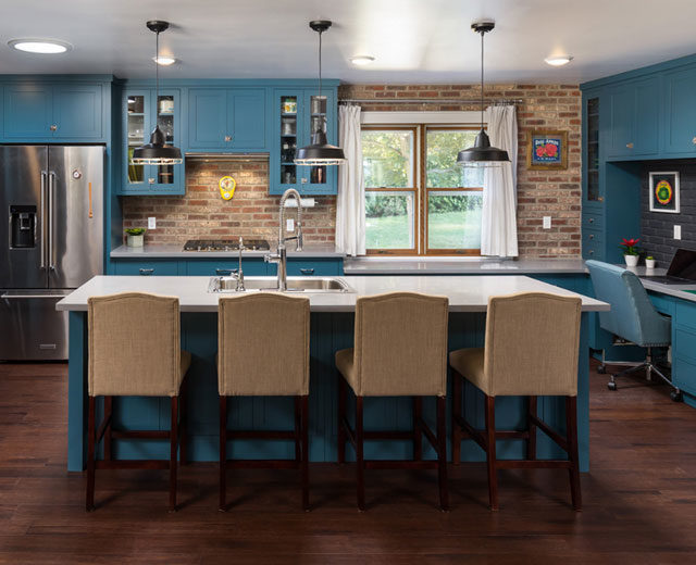 Blue cabinetry trends from Swartz Kitchens and Baths