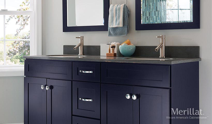 blue cabinets for your bath