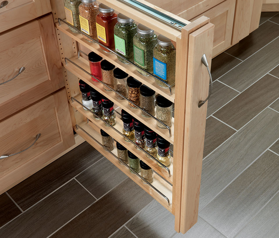 maximize kitchen storage with pullouts