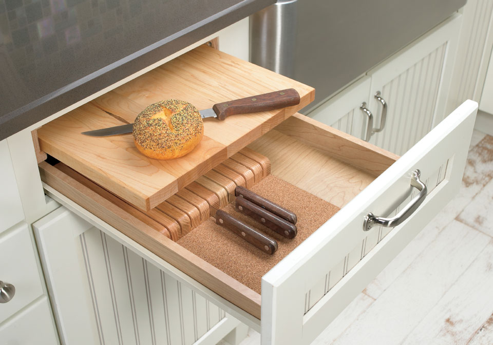 kitchen storage cutting board kit available at Swartz Kitchens and Baths