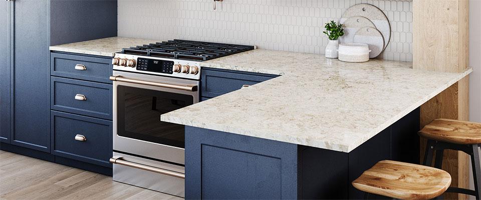 Cambria Quartz countertops available at Swartz Kitchens and Baths