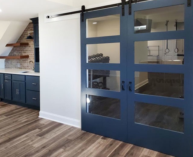 Basement remodel with Swartz Kitchens and Baths